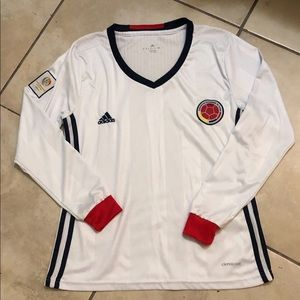 Adidas Long sleeve Colombia sports jersey